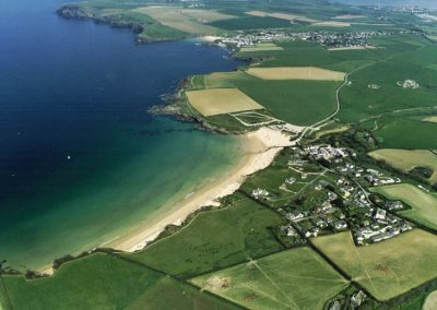aerial-view-harlyn-beach